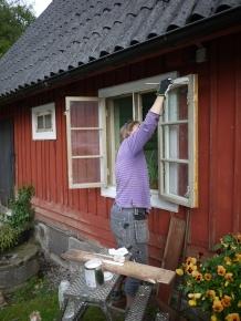 Maria målar
